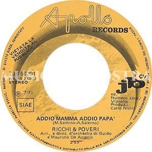 1971 – Apollo Records ZJA  (NNSS-SS)