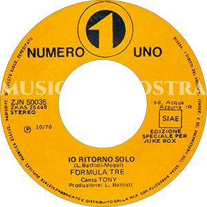 1970 – Numero Uno ZJN 50035