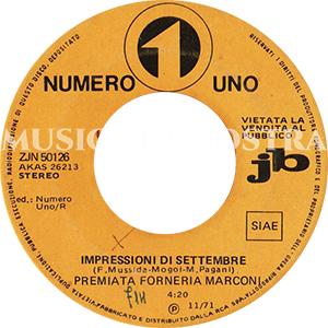 1971 – Numero Uno ZJN 50126