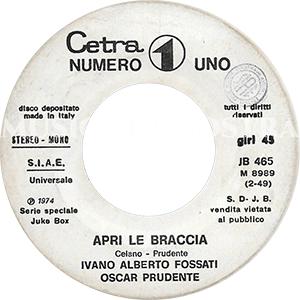 1974 – Cetra/Numero Uno/Pull JB 465
